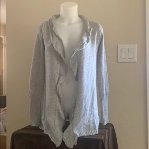 Vera Wang Lt Grey Knitted Cardigan Soft/Cozy Sz S